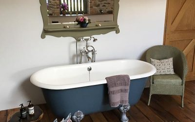 New addition to The Granary – a romantic antique roll topped bath