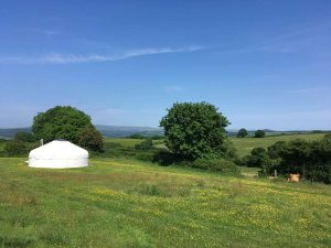 Large Devon Yurt with views over Dartmoor