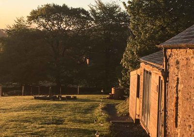 view of shower barn at Devon Yurt Holiday