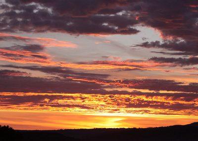 Sunset over Dartmoor at Devon Yurt Holidays