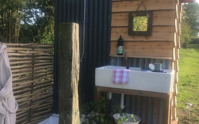 New Outdoor Shower For Great Links Yurt