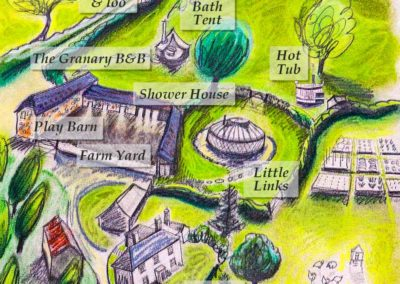Devon Yurt farm map