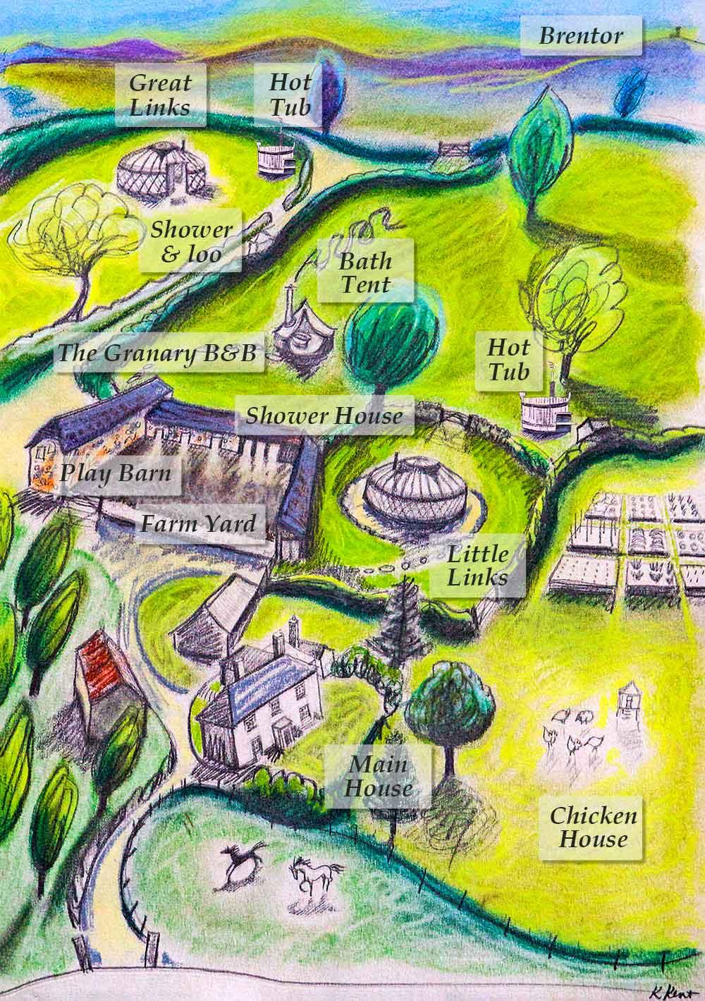 Devon Yurt Holidays Map