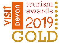 Visit Devon Gold Award logo for 2019